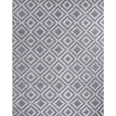 Samba Square Gray 8 ft. x 10 ft. Indoor/Outdoor Area Rug