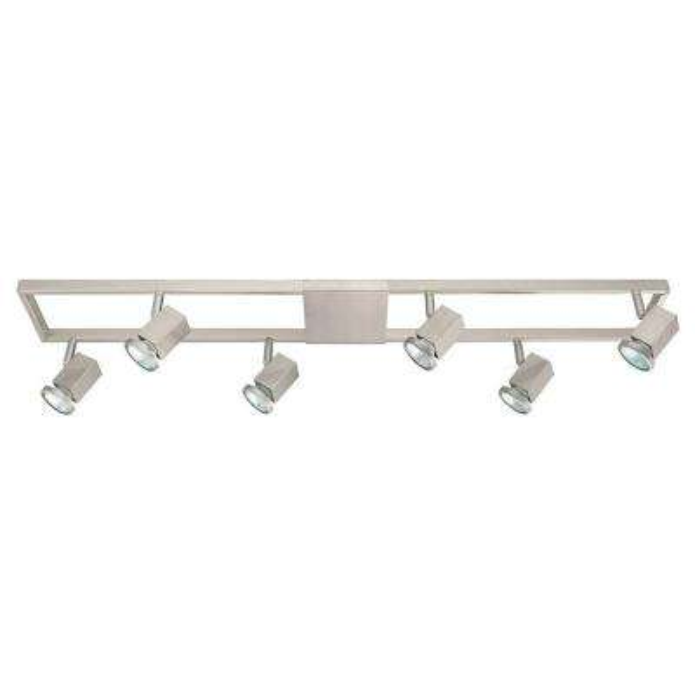Zeraco 3 ft. 6-Light Matte Nickel Track Lighting Kit