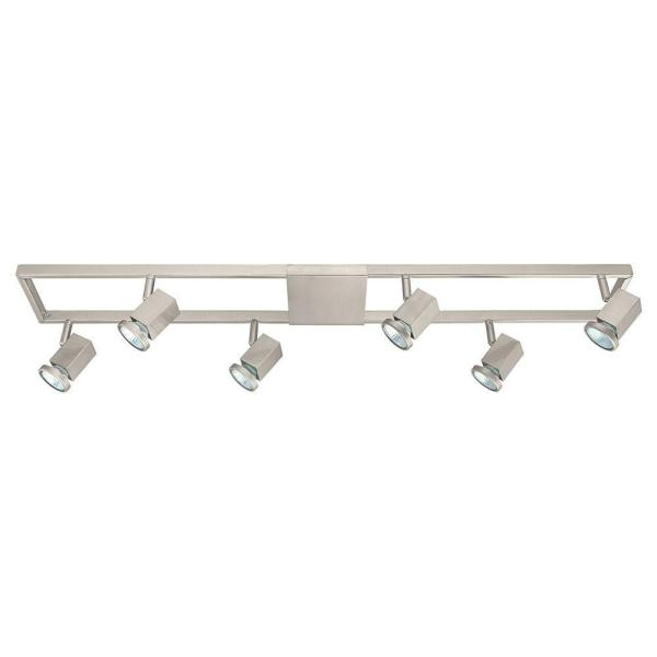 Zeraco 37 in. 6-Light Matte Nickel Track Lighting Kit with Adjustable Track Heads