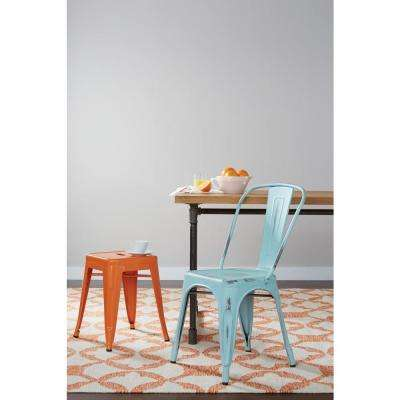 Patterson 18 in. Orange Bar Stool (Set of 4)