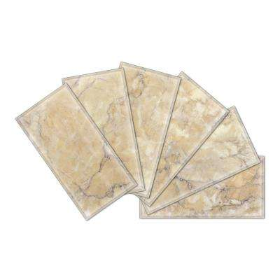 3 in. x 6 in. x 6mm Crystal Beveled Glass Mosaic Wall Tile (7.8 sq. ft. / set of 64)