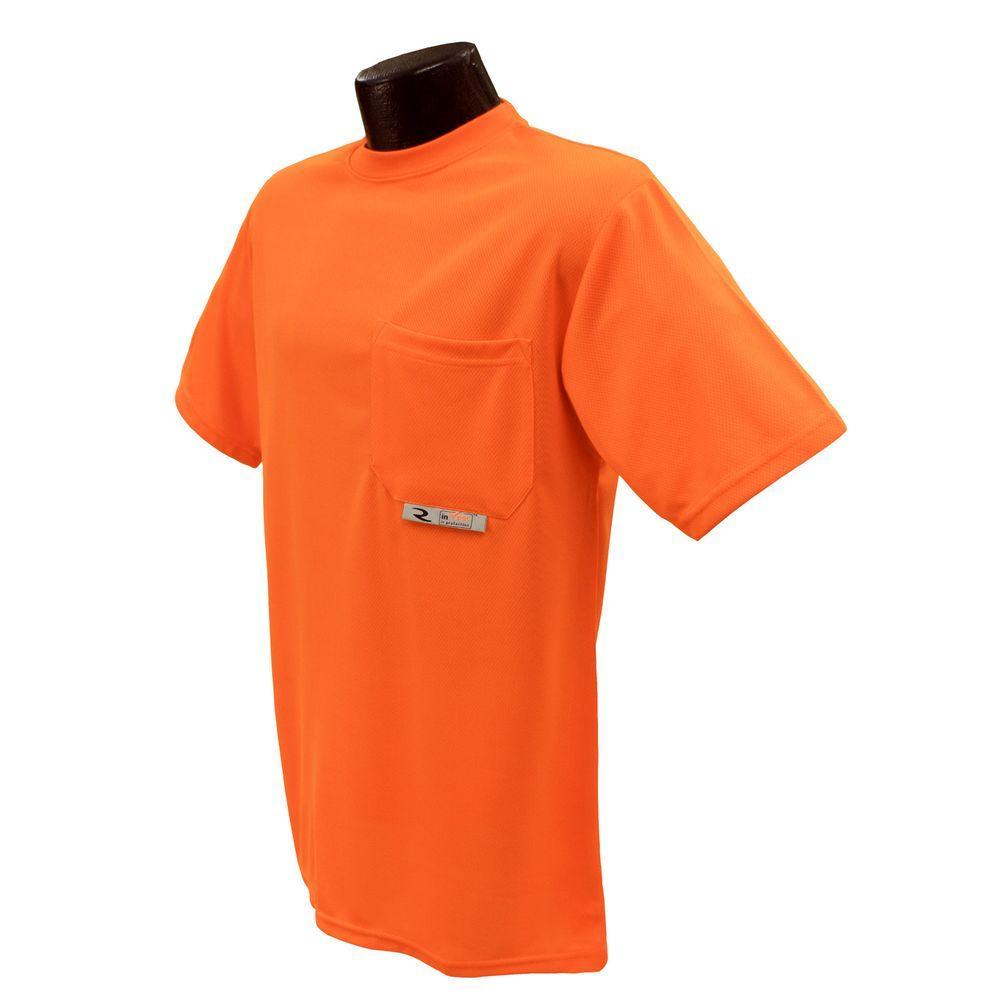 Radians CL 2 Tshirt with Moisture Wicking Orange 4X Safety Vest