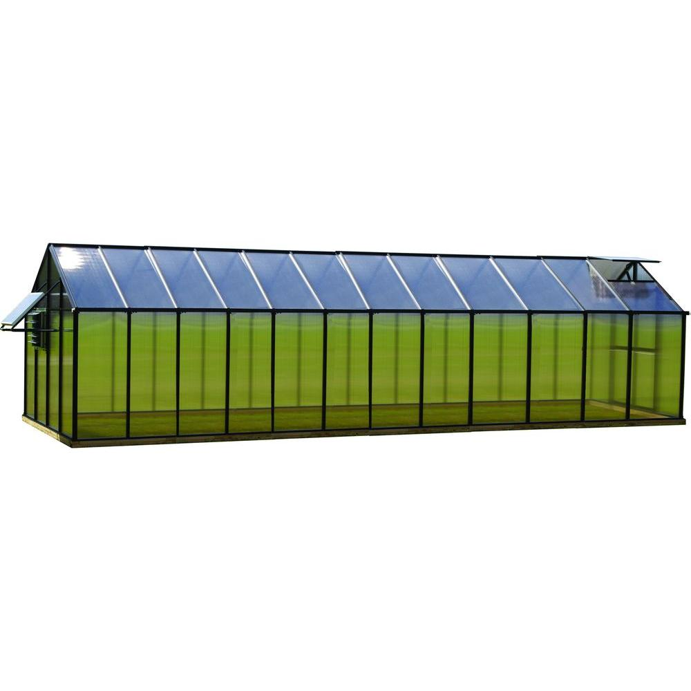 8 ft. x 24 ft. Black Mojave Greenhouse