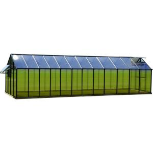 Monticello 8 ft. x 24 ft. Black Mojave Greenhouse by Monticello