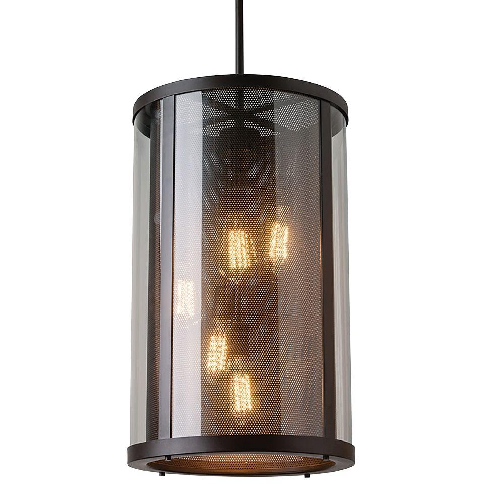 Bluffton Collection 5-Light Oil-Rubbed Bronze Outdoor Hanging Pendant