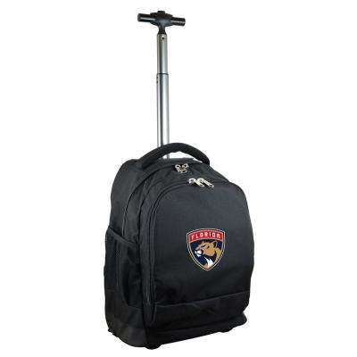 NHL Florida Panthers 19 in. Black Wheeled Premium Backpack