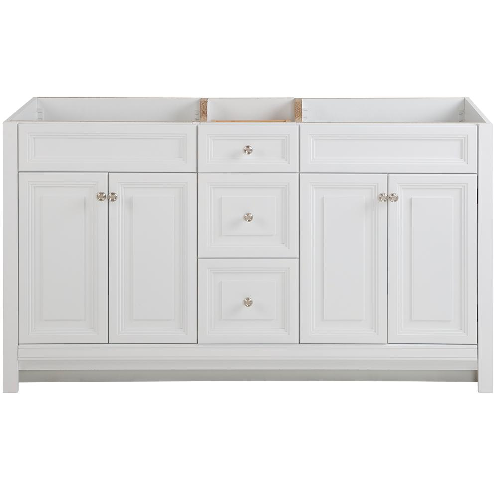 Home Decorators Collection Brinkhill 60 in. W x 21.65 in. D x 34.25 in. H Bath Vanity Cabinet Only in White