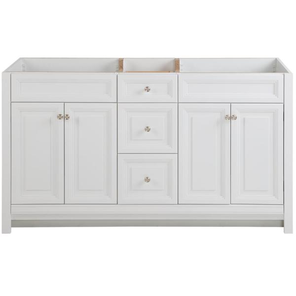Brinkhill 60 in. W x 34 in. H x 22 in. D Bath Vanity Cabinet Only in White
