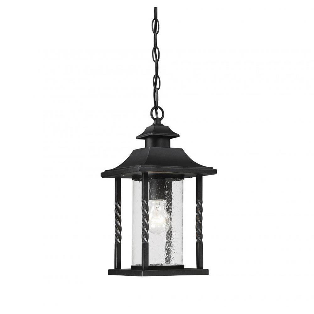 Trevor Black 1-Light Outdoor Hanging Lantern
