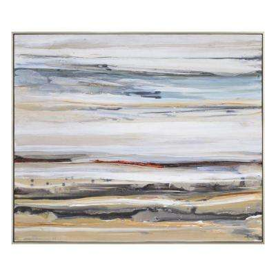 "40 in. H x 48 in. W ""Desert Road"" by Lecavalier Framed Canvas Wall Art"