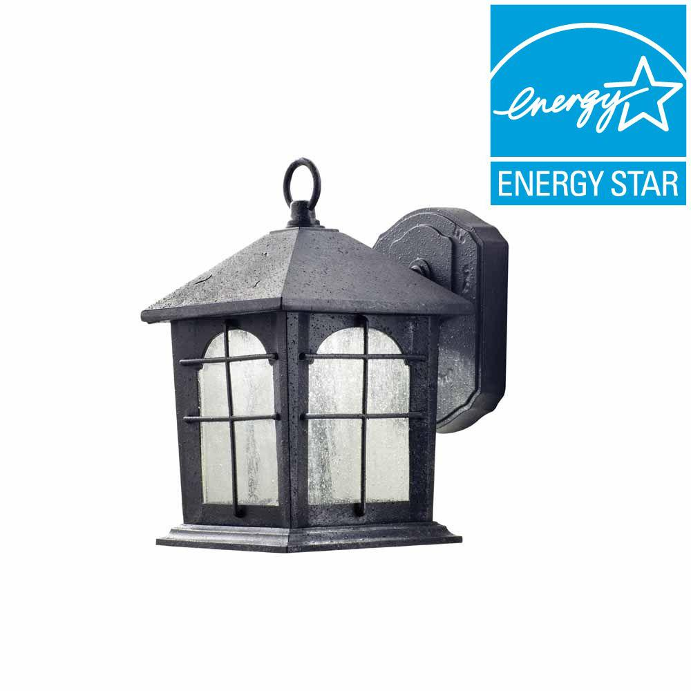 Home Decorators Collection Aged Iron Outdoor LED Wall Lantern HB48023PALED292