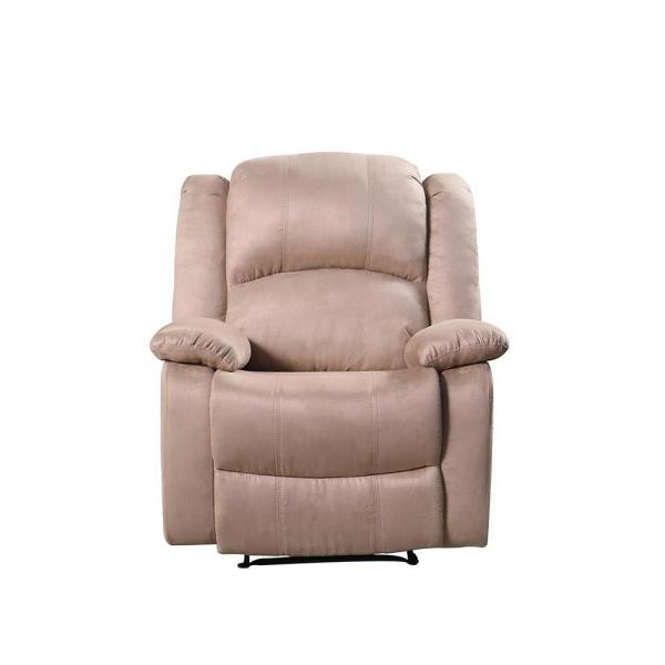 Awesome Mocha Microfiber Glider Recliner 73012 96Mc The Home Depot Bralicious Painted Fabric Chair Ideas Braliciousco