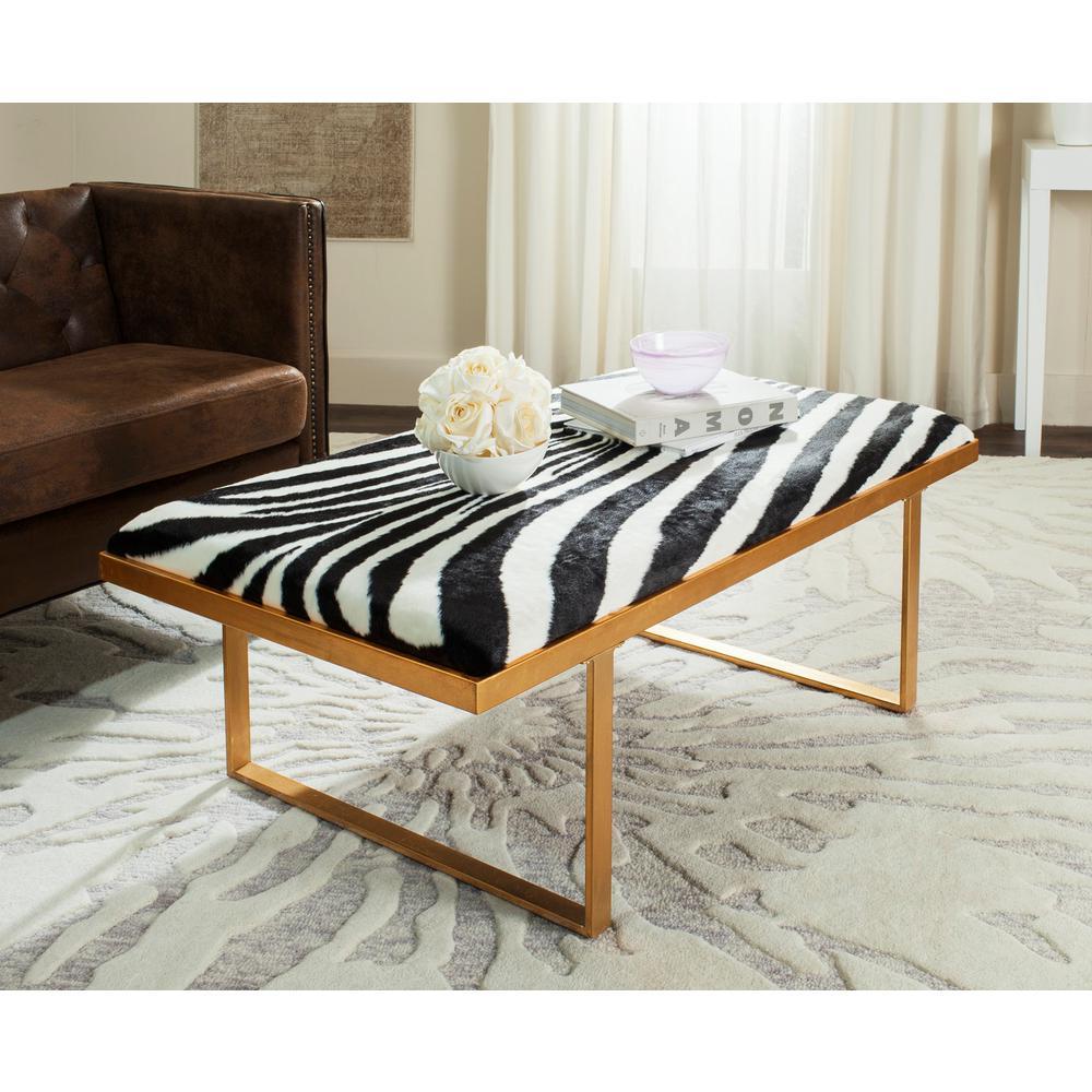 Millie Zebra/Gold Bench