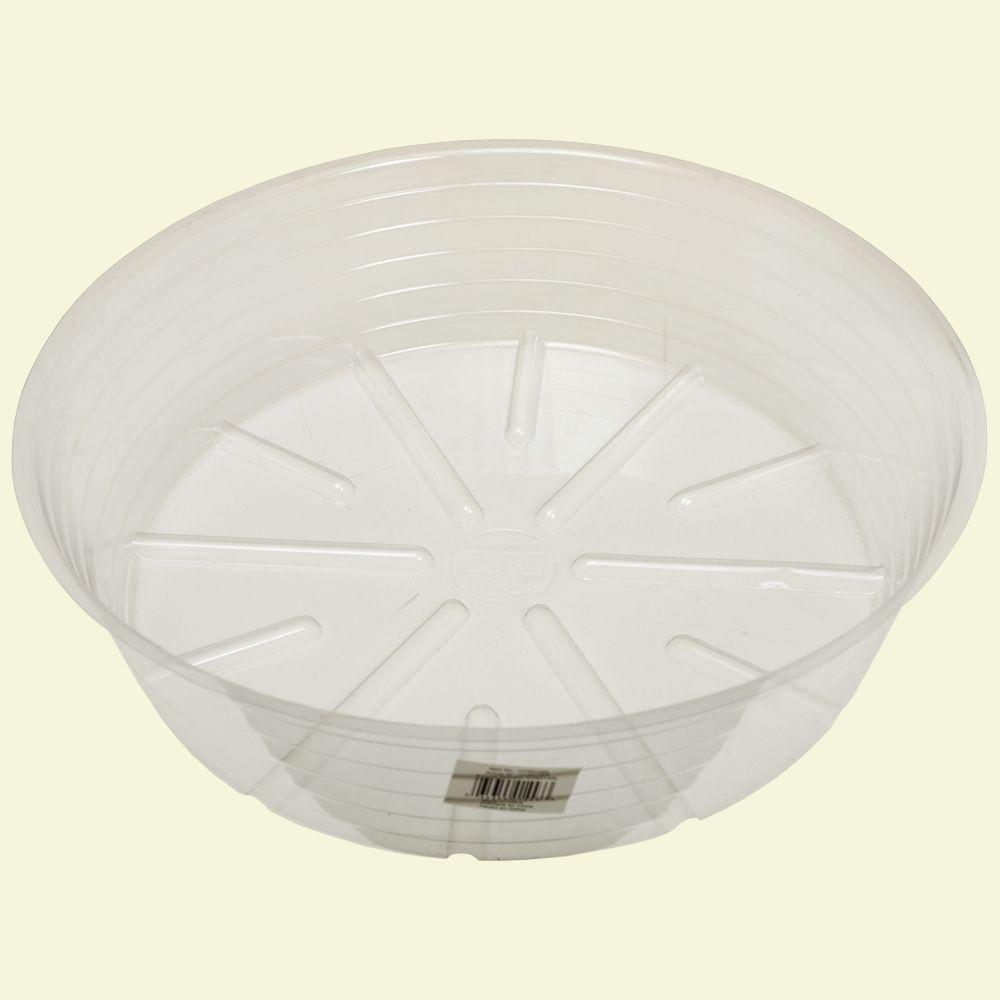 Bond Manufacturing 14 in. Deep Clear Plastic Saucer