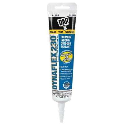 Dynaflex 230 Clear 5.5 oz. Premium Exterior/Interior Window, Door and Trim Sealant