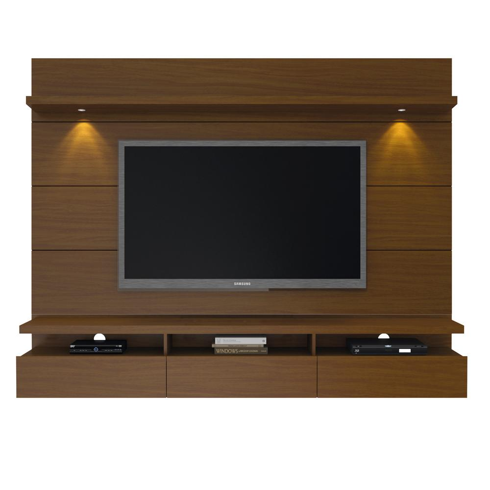 ManhattanComfort Manhattan Comfort Cabrini Theater Nut Brown Entertainment Center