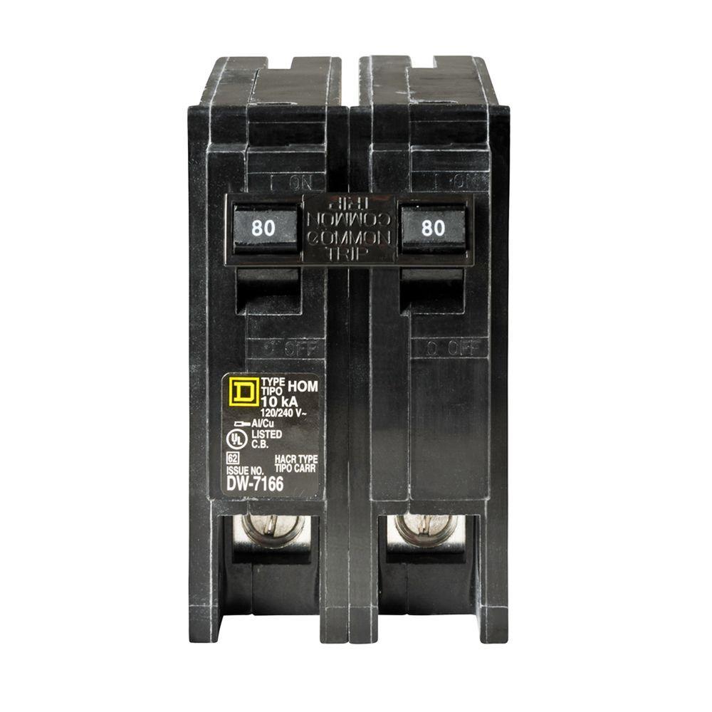 Homeline 80 Amp 2-Pole Circuit Breaker