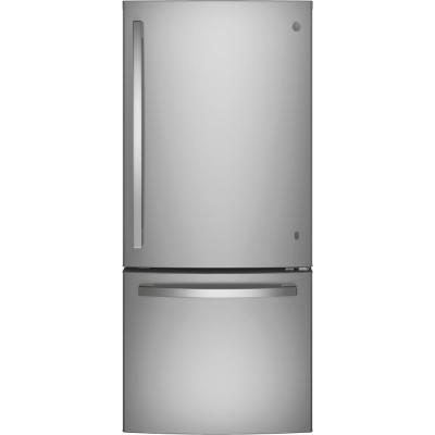 21 cu. ft. Bottom Freezer Refrigerator in Stainless Steel, ENERGY STAR