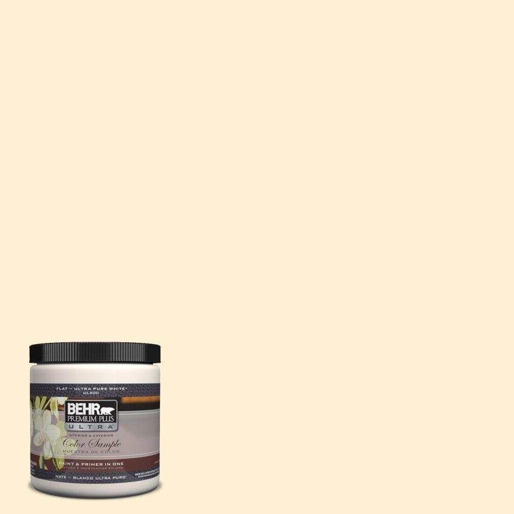 BEHR Premium Plus Ultra 8 oz. #350C-1 Downy Interior/Exterior Paint Sample