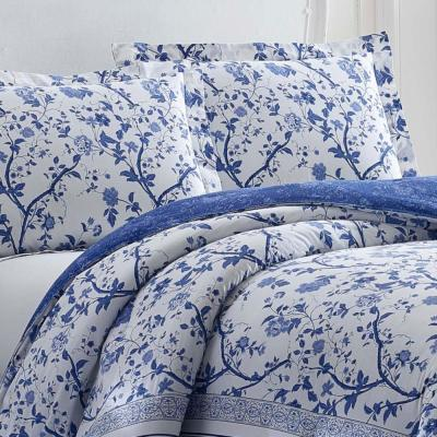Charlotte China Blue Floral Cotton Comforter Set