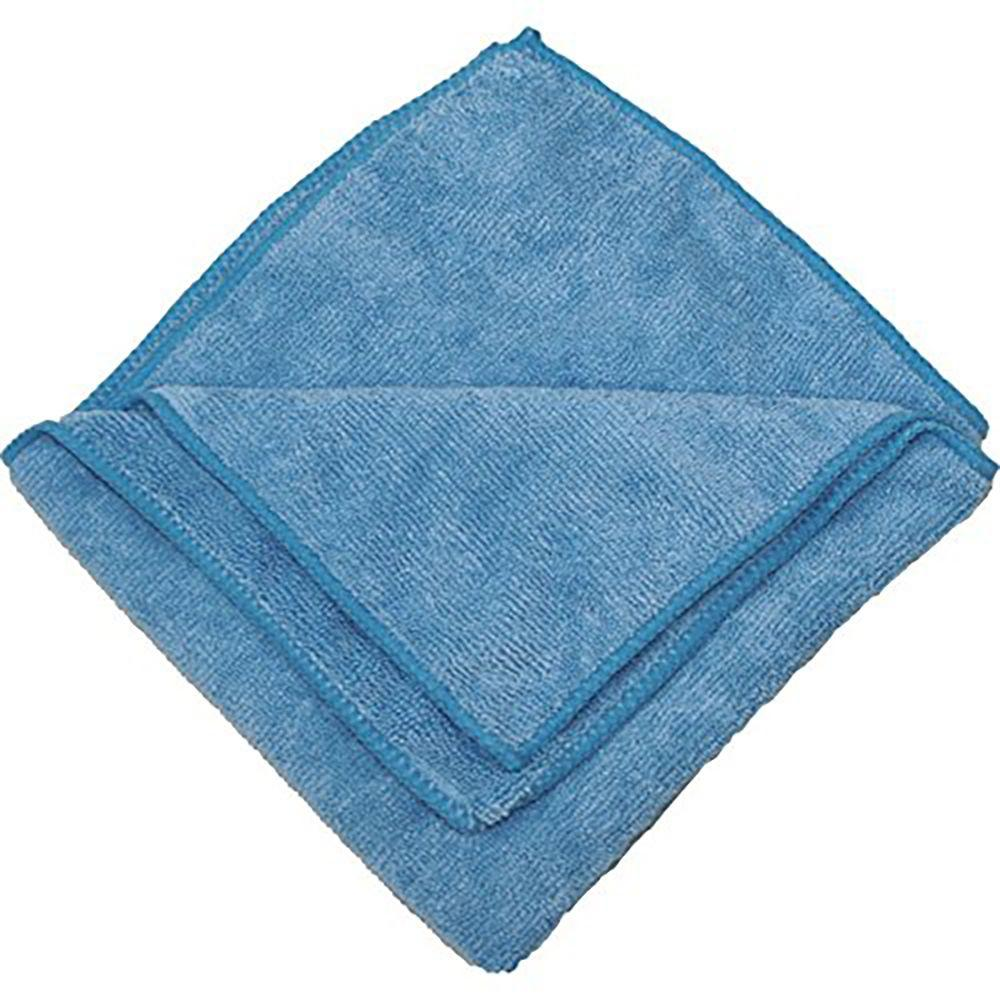 Microfiber Cloth Wet: Zwipes 16 In. X 16 In. Blue Microfiber Cleaning Towel