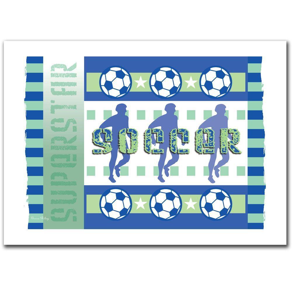 Trademark Fine Art 30 in. x 47 in. Soccer Canvas Art