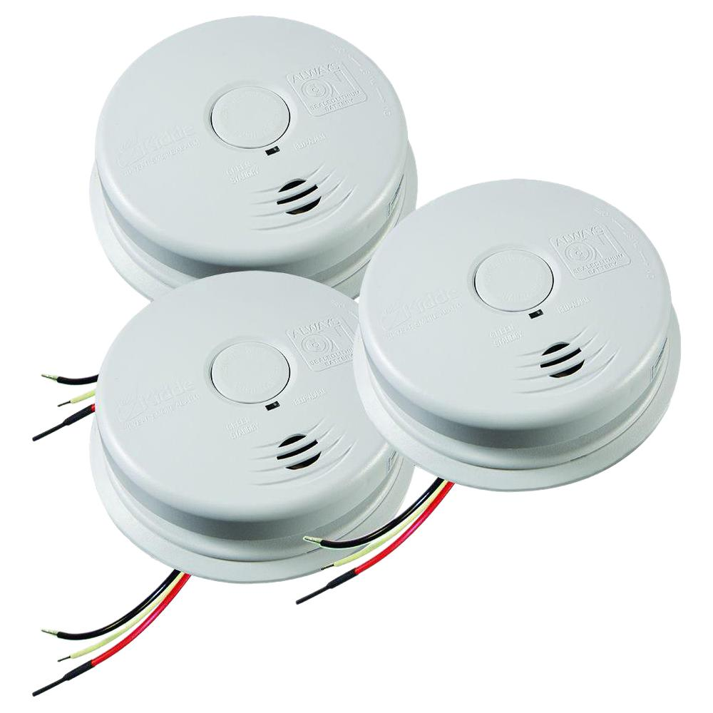 Kidde 10 Year Worry Free Hardwire Smoke Detector With Battery