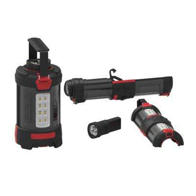Red Multi-Function LED Lantern