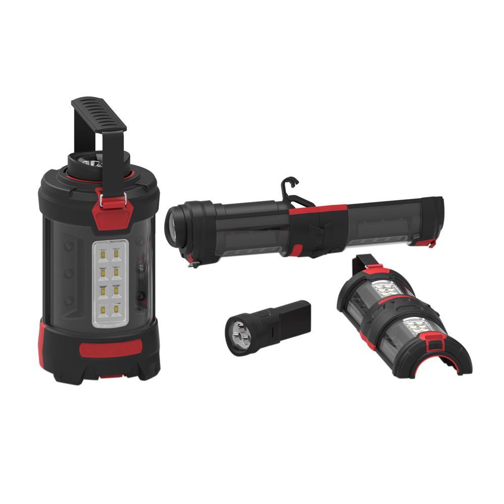 Red Multi-Function LED Lantern