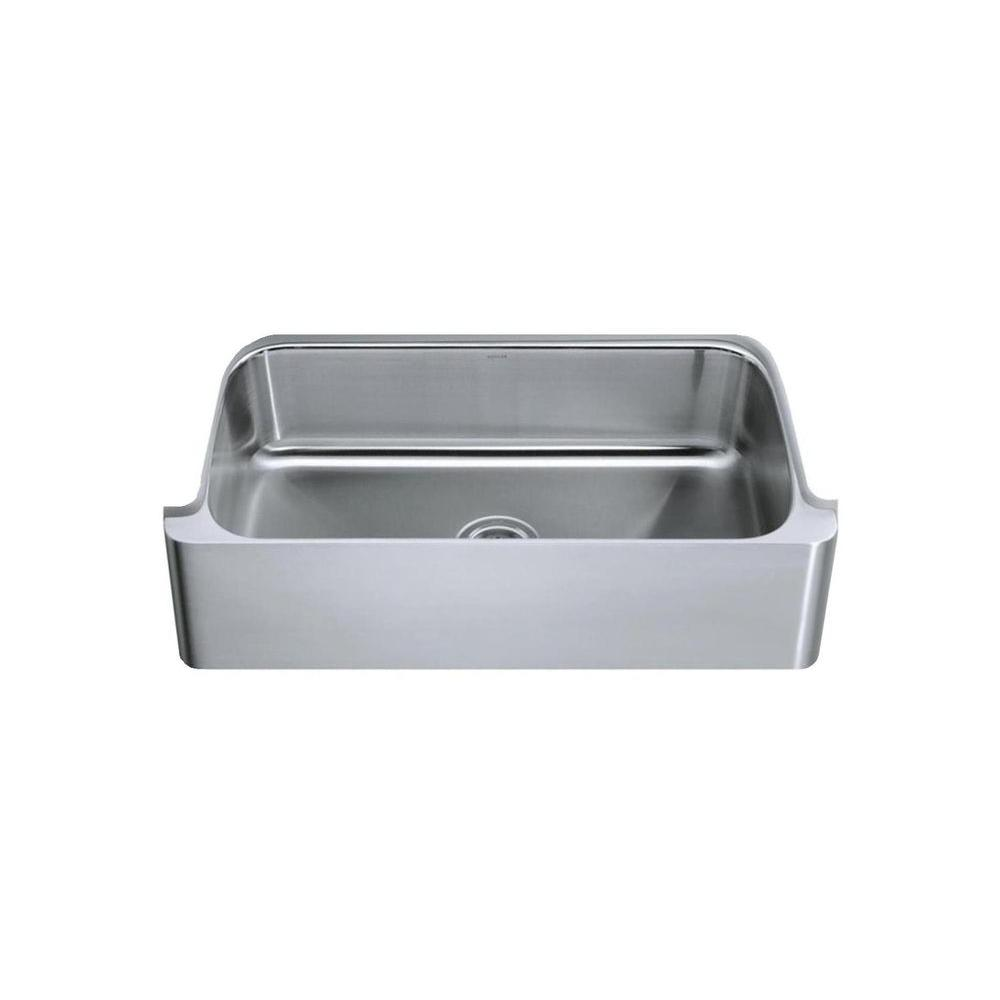 KOHLER Verity Undermount Stainless Steel 33x17.375x8.75 0-Hole Single Bowl Kitchen Sink-DISCONTINUED