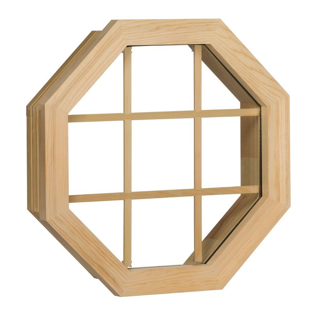 Century Wood StationaryOctagon Windows20-3/8 in.x20-3/8 in.Unfinished RoughOpening with InsulatedGlass and 9LT Grid-DISCONTINUED