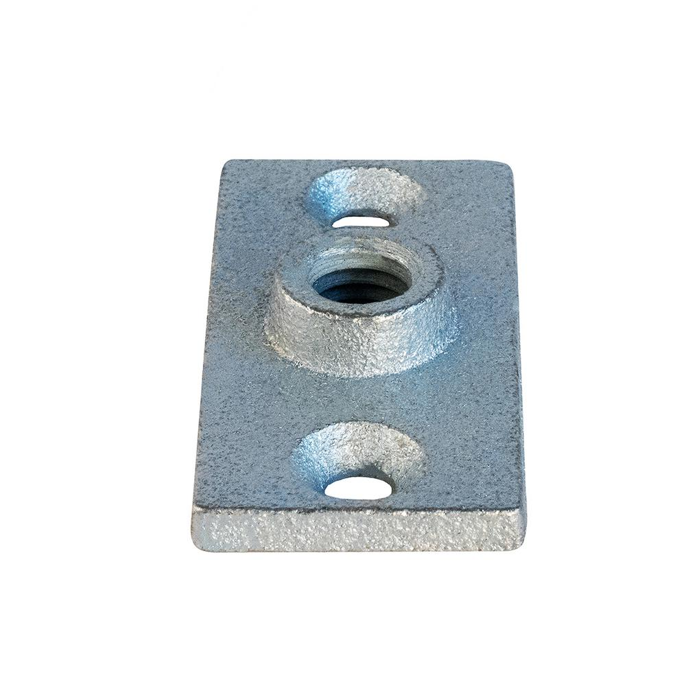 The Plumber S Choice Rod Hanger Plate In Galvanized Iron For 0 38 In Threaded Rod 38clfg The Home Depot