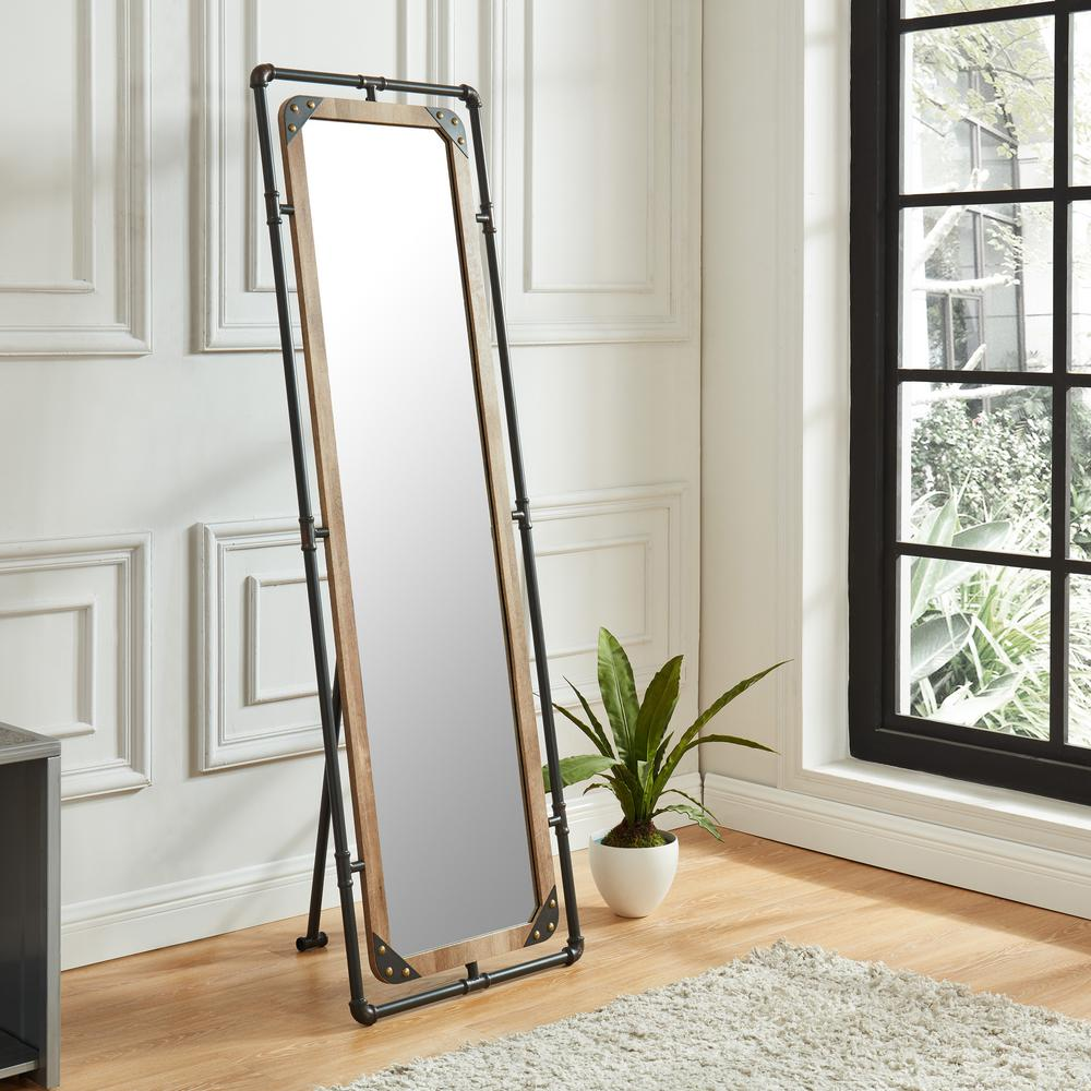 Furniture Of America Ray Rectangle Sand Black Metal Hallway Mirror