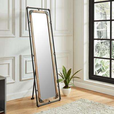 Ray Rectangle Sand Black Metal Hallway Mirror