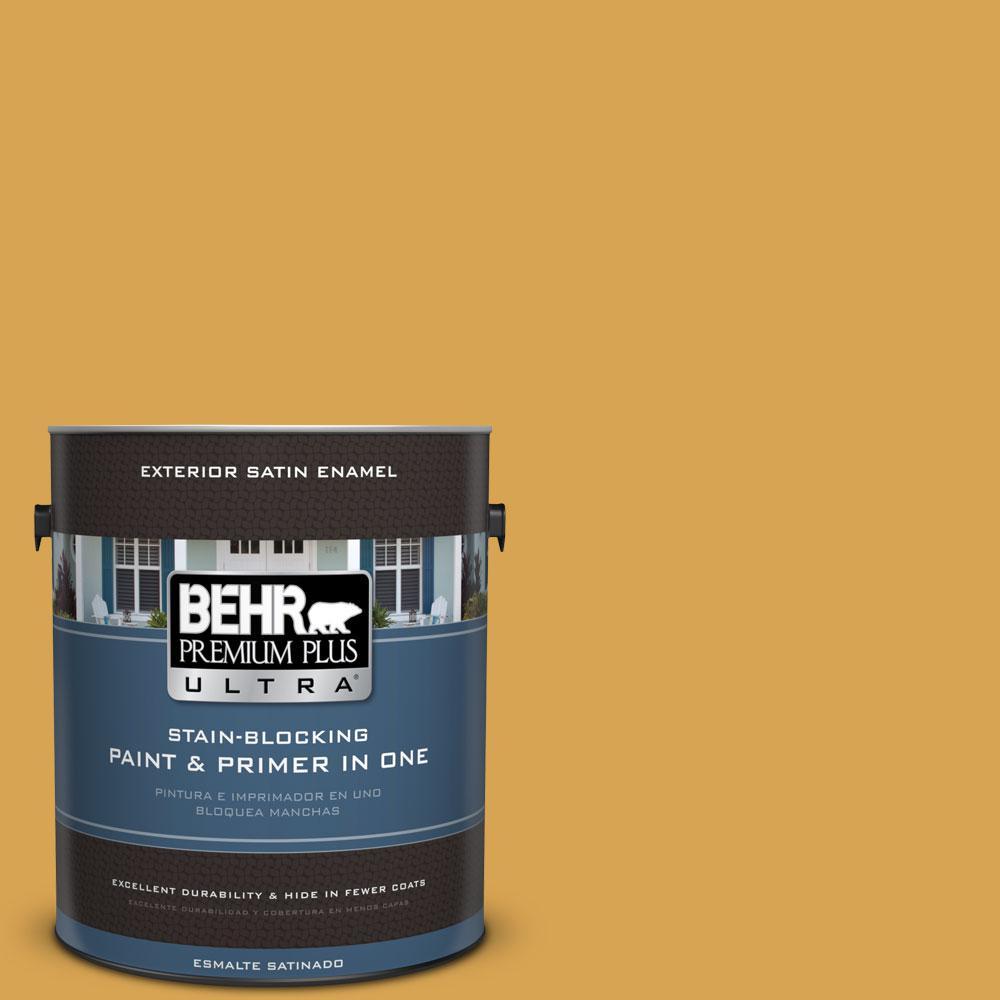BEHR Premium Plus Ultra 1-gal. #M290-6 Plantain Chips Satin Enamel Exterior Paint