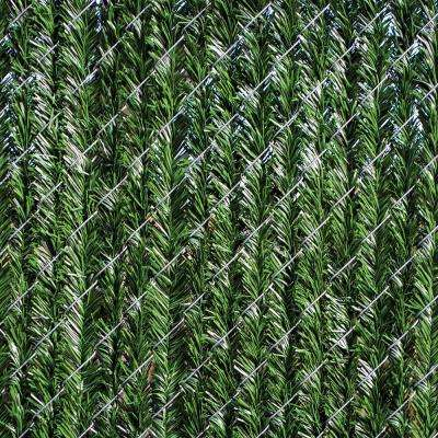 4 ft. H x 5 ft. W Green Privacy Hedge Slat Vinyl Fence Panel