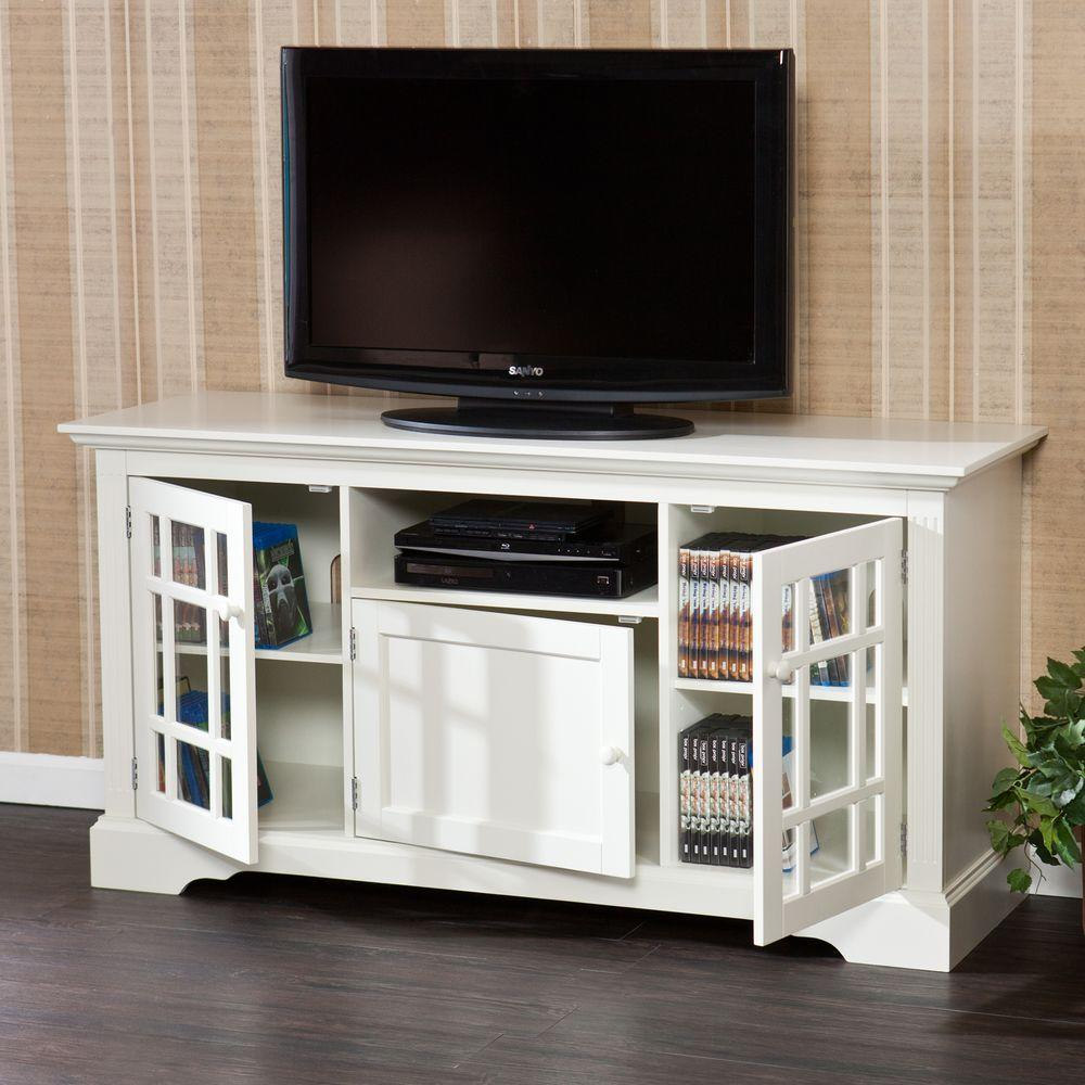 Southern Enterprises Madison Off White Entertainment Center