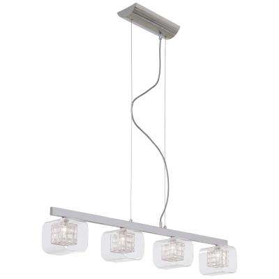 Jewel Box 4-Light Chrome Billiard Light
