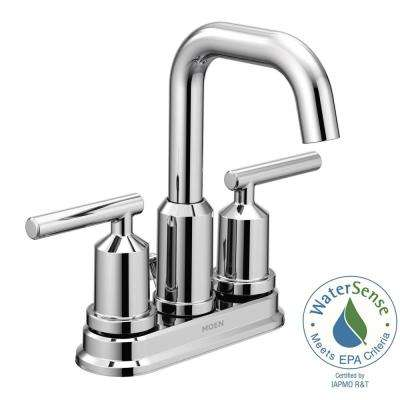Gibson 4 in. Centerset 2-Handle High-Arc Bathroom Faucet with Pop-Up Assembly in Chrome