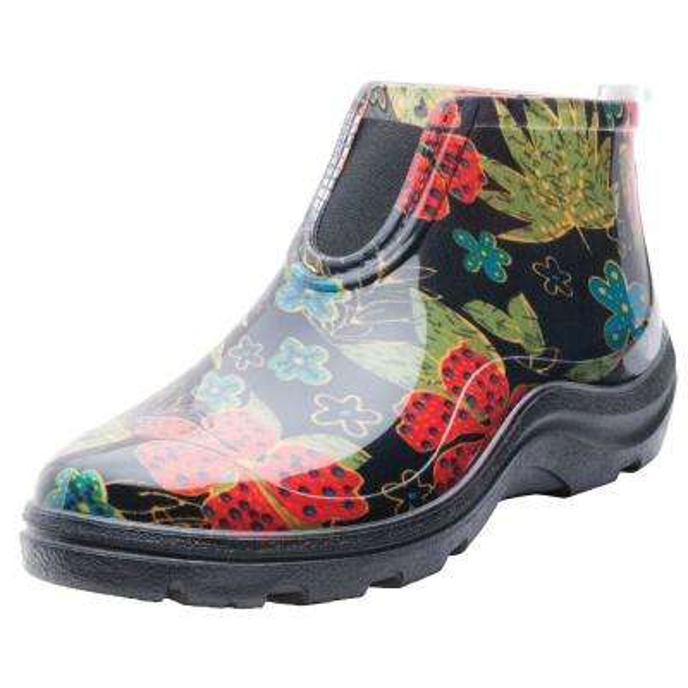Women's Black Rain & Garden Ankle Boot Garden Shoes