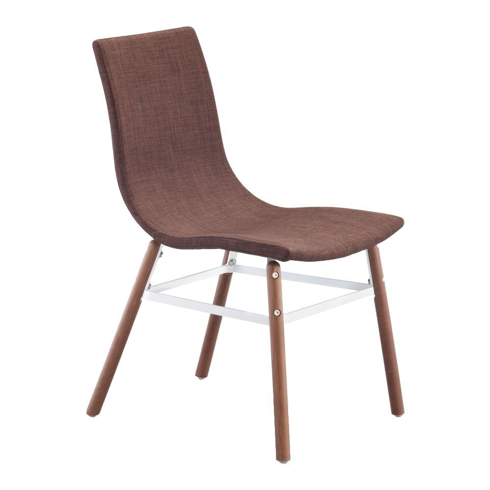 ZUO Stavanger Tobacco Fabric Chair (Set of 2)
