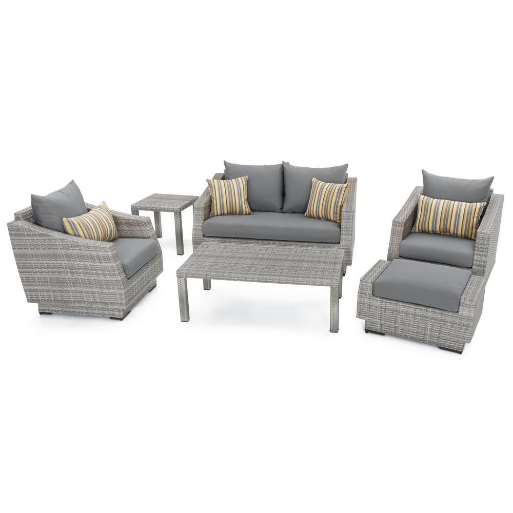 Loveseat Deep Seating Set Grey Furniture Sets