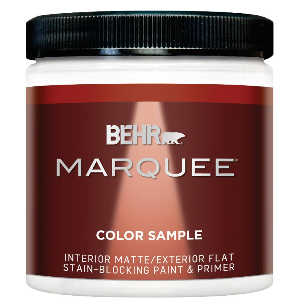 behr marquee 8 oz ultra pure white matte interior exterior paint