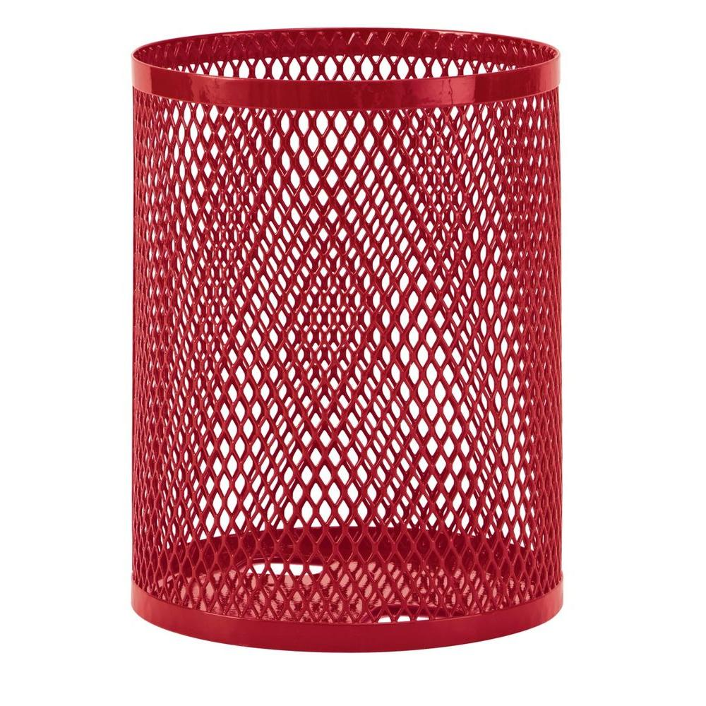 Ultra Play 32 gal. Diamond Red Commercial Park Portable Trash Receptacle