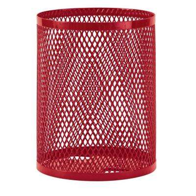 32 gal. Diamond Red Commercial Park Portable Trash Receptacle