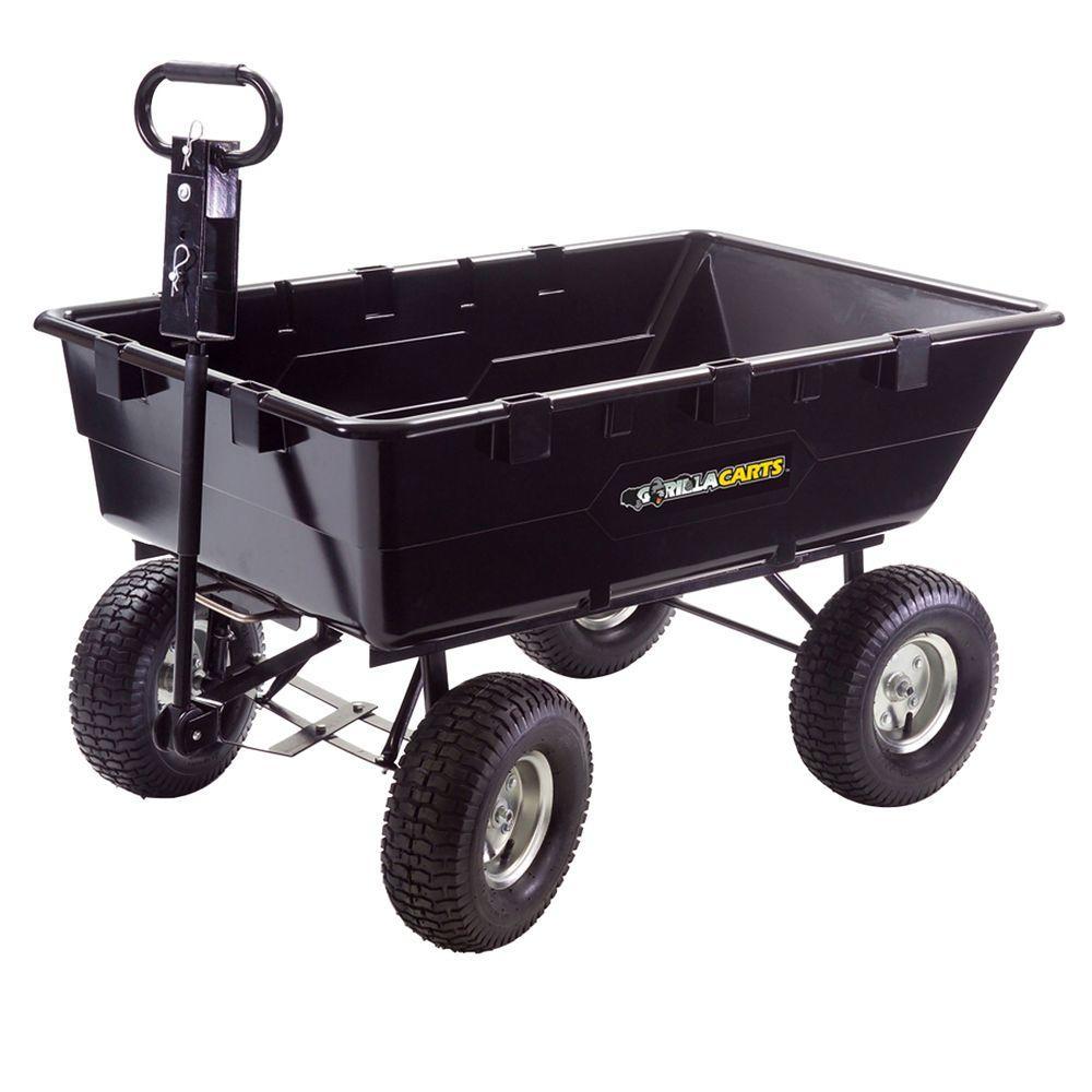 Gorilla Carts 10 cu. ft. 1200 lb. Heavy Duty Dump Cart-DISCONTINUED