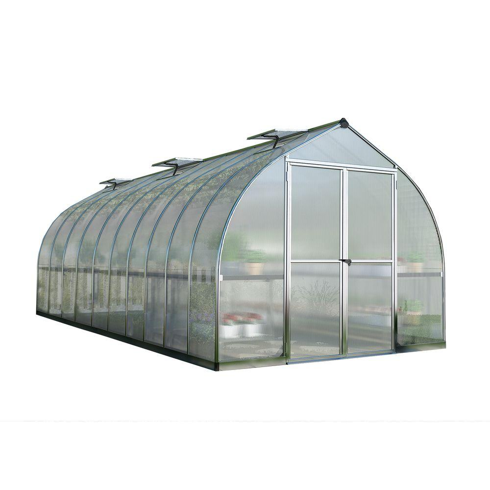 Bella 8 ft. x 20 ft. Silver Polycarbonate Greenhouse