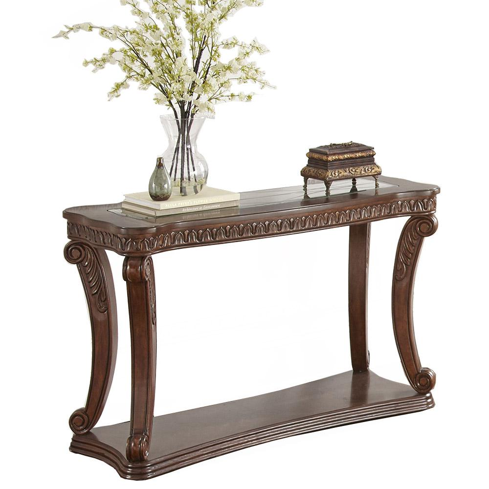 Steve Silver Company Innsbruck Traditional Brown Sofa Table