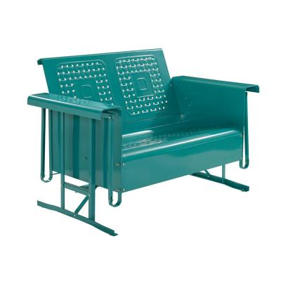 Bates 2-Person Turquoise Metal Outdoor Glider