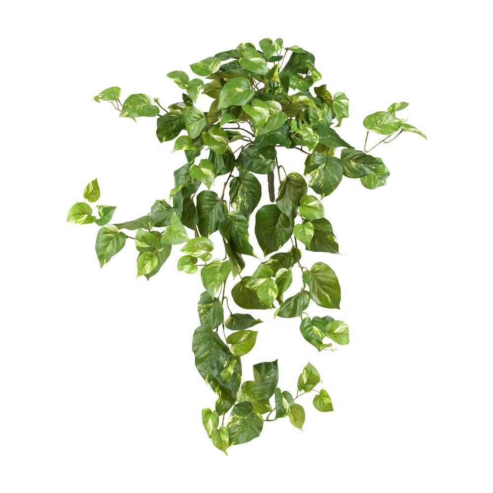Nearly Natural 40 In Pothos Hanging Bush Set Of 3 6060